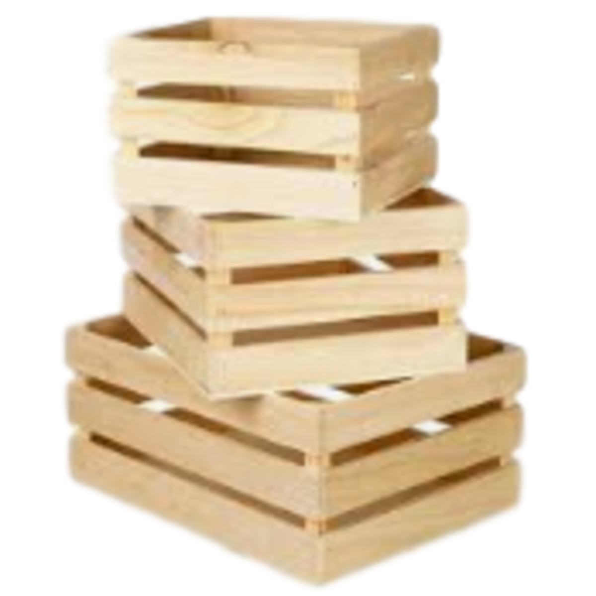 Rectangle Wooden Crate Small 43cml X 30cmw X 21cmh Natural