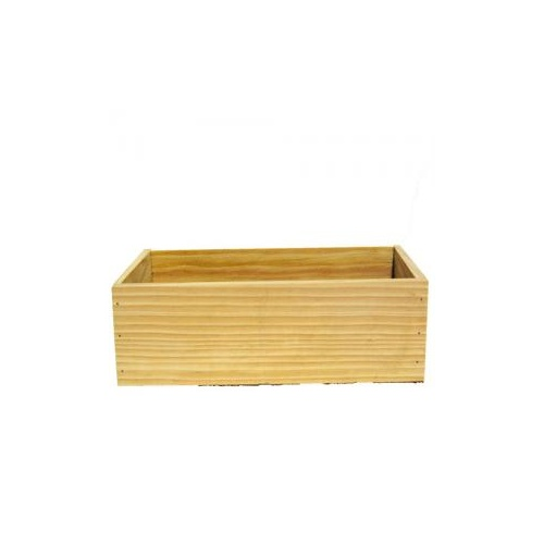Rectangle Wooden Box - 24.5cmL x 13cmW x 8.5cm H / Natural