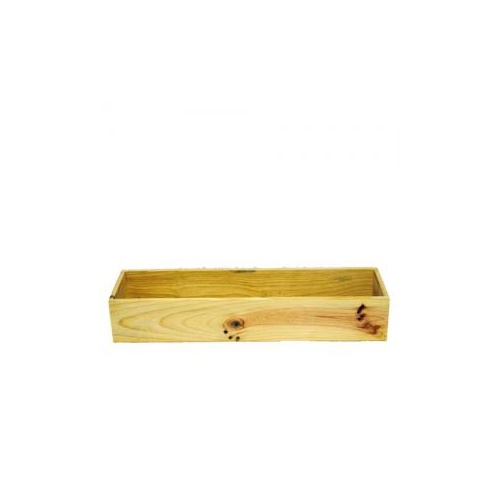 Rectangle Wooden Box - 48cmL x 13cmW x 8.5cmH / Natural