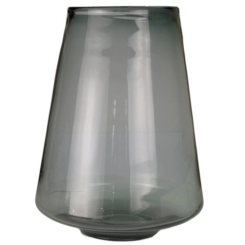 XLARGE FRENCH GREY TAPERED VASE - Top 17cmD x Base 13cmD x 36cmH