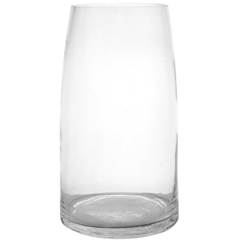 Curved Top Cylinder Vase - 11.7cmD x 25cmH