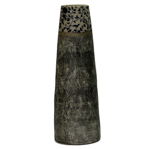 HAMPTON TAPERED CERAMIC VASE - Top Diam: 7cm x 28cmH