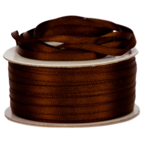 Double Face Satin Ribbon - 3mm x 50mts / Chocolate
