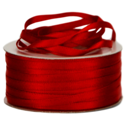 Double Face Satin Ribbon - 3mm x 50mts / Rouge (Red)