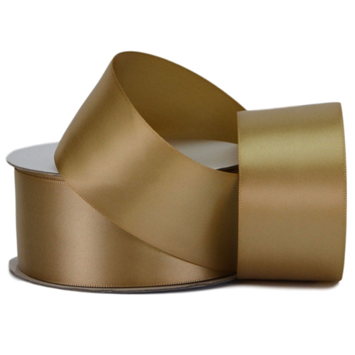Double Face Satin Ribbon - 38mm x 25mts / Antique Gold