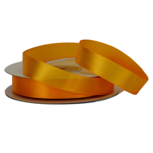 Single Face Satin Ribbon - 15mm x 25mts / Yellow