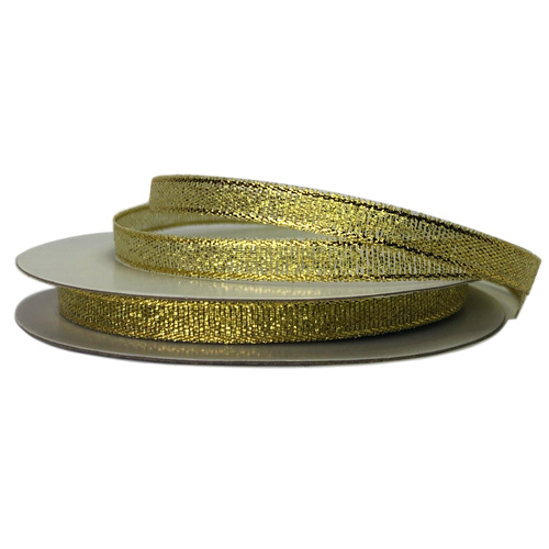 Metallic Ribbon - 7mm x 25mtr / Gold