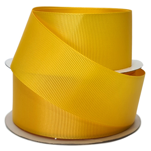 Grosgrain Ribbon - 38mm x 25mtr / Yellow