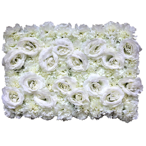ROSE/FLOWER MAT - 40cm x 60cm / WHITE