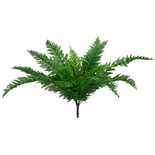 LEATHER FERN BUSH x 12 - 57cm