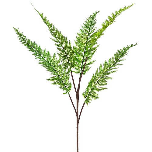 LEATHER FERN SPRAY x 5 - 75cm