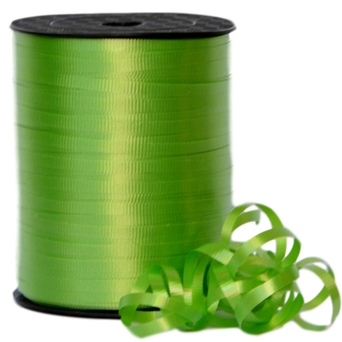 CRIMPED CURLING RIBBON -  5mm x 457.2mtr - LIME
