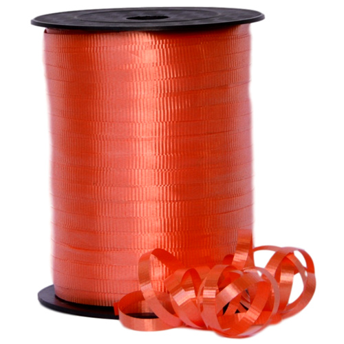 CRIMPED CURLING RIBBON -  5mm x 457.2mtr - ORANGE