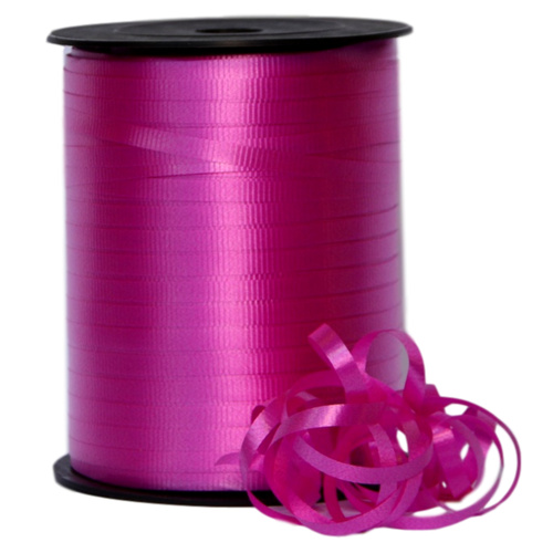 Crimped Curling Ribbon - 5mm x 457.2mtr / Hot Pink