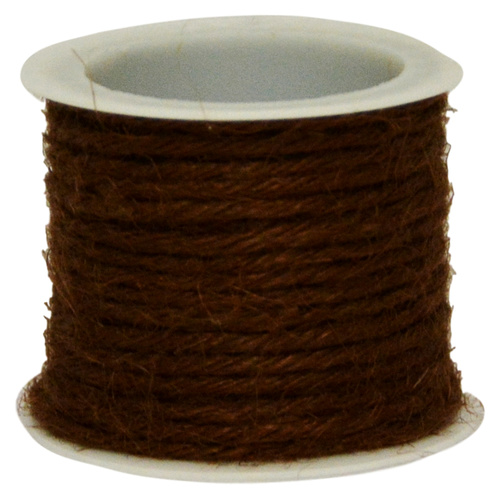 COLOURED JUTE  - 2.5mm x 4.57mtr - BROWN