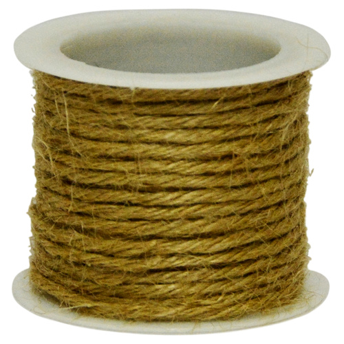 COLOURED JUTE  - 2.5mm x 4.57mtr - NATURAL