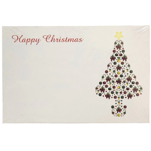 Bauble Christmas Tree Cards x 50