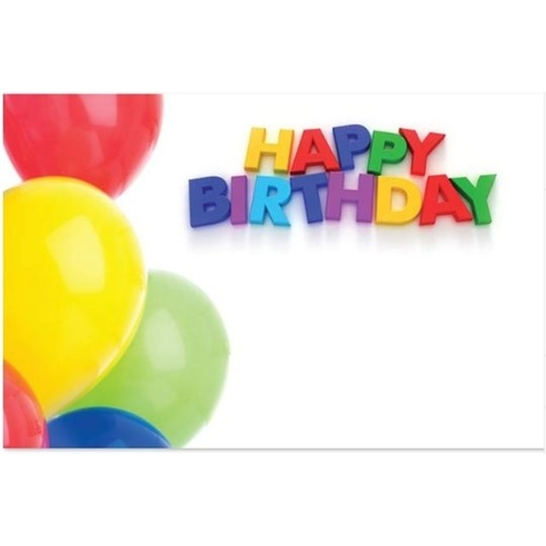 Happy Birthday w/Balloons Card x 50