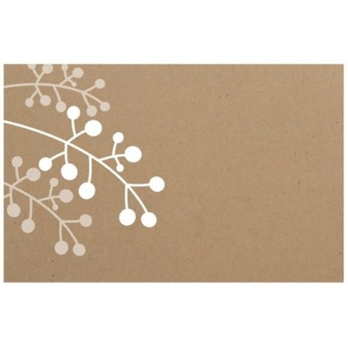 White Branch Kraft Card x 50