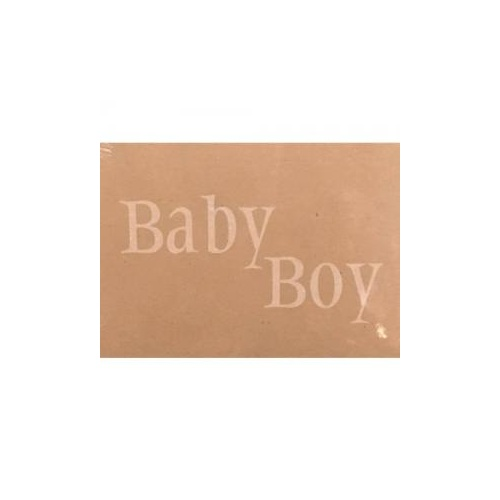 Baby Boy Kraft Card x 50