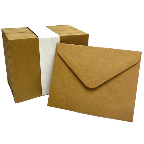 BROWN KRAFT ENVELOPES x 100