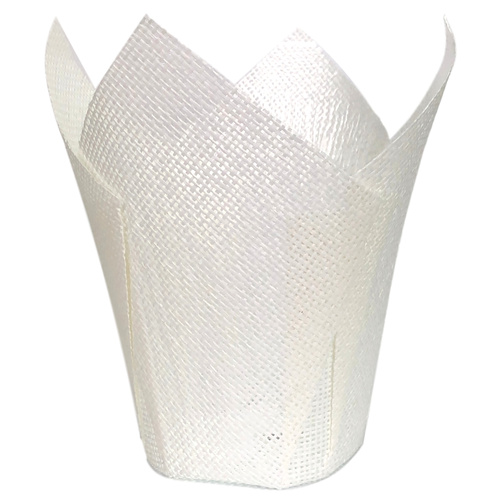 PAPER MESH HANKY POT - MEDIUM - 21cmD x 22.5cmH - WHITE