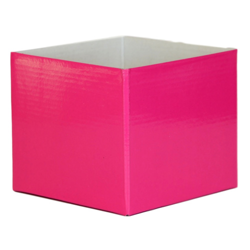 #5 SMALL FLOWER BOX - GLOSS - 130mm x 130mm x 115mmH - CERISE
