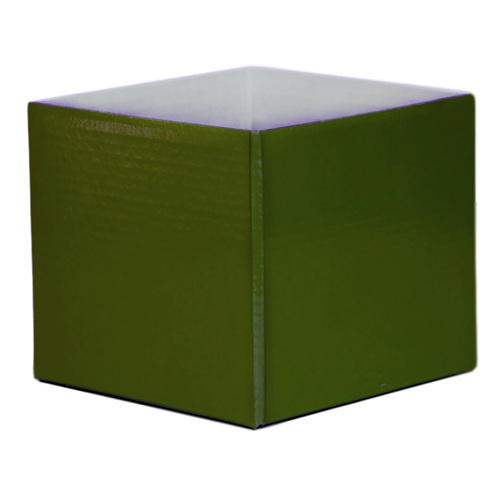 #5 SMALL FLOWER BOX - GLOSS - 130mm x 130mm x 115mmH - OLIVE