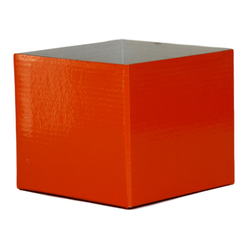 #5 SMALL FLOWER BOX - GLOSS - 130mm x 130mm x 115mmH - ORANGE