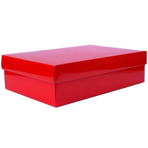 Small Gourmet Gift Box w/Lid - 34cm x 22cm x 9cmH / Red